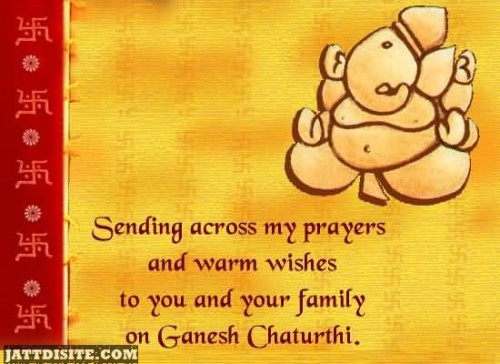 Sending You Wishes On Ganesh Chaturthi