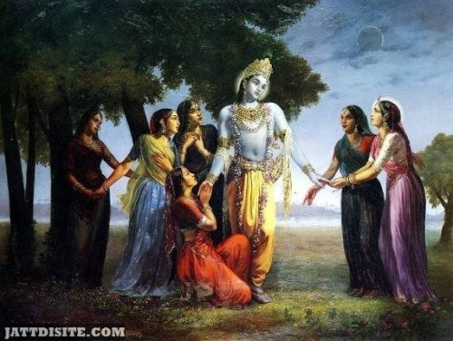 Shri Krishna With Gopis On Amalaki Ekadasi Purnima