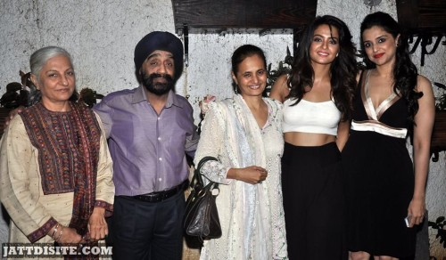 Surveen Chawla With His Family