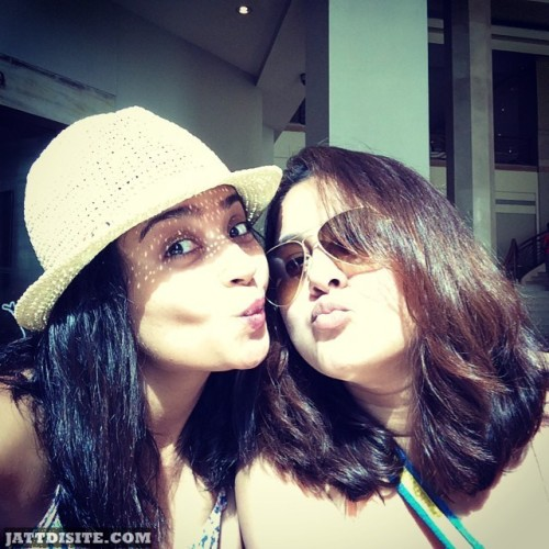 Surveen Chawla With His Sister