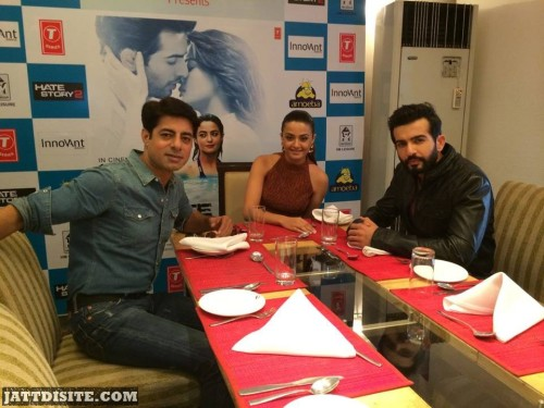 Surveen Chawla With Jay And Sushant At Dinner