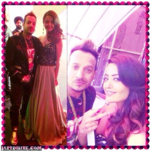 Surveen Chawla With Jazzy B