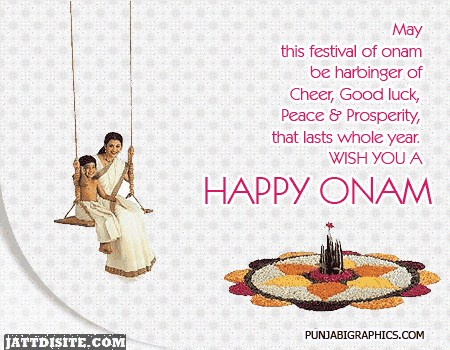 The Day Of Happy Onam
