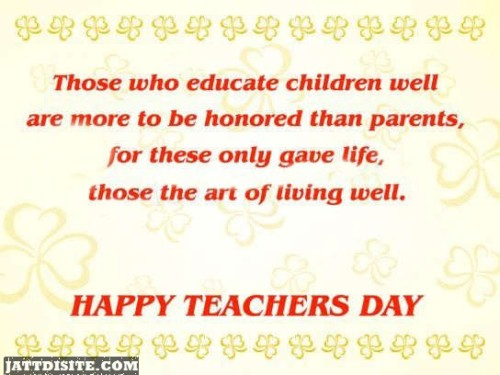 Those The Art Of Living Well - Happy Teachers Day - Copy