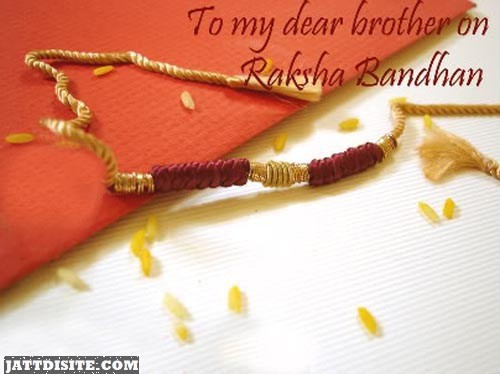 To My Dear Brother On Raksha Bandhan Graphic