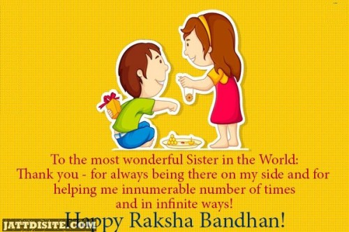 To The Most Wonderful Sisters In The World Happy Raksha Bandhan