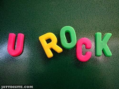 U Rock Colorful Beautiful Text Graphic