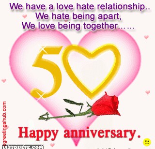 We Have a Love hate relationship ~ Anniversary Quote