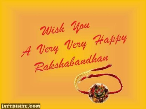 Wish You A Very Very Happy Rakshabandhan