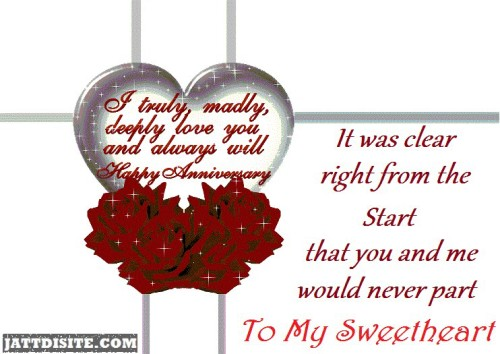 Wishes to sweetheart