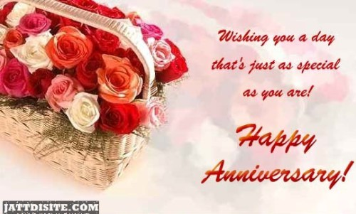 Wishing You A Day Happy Anniversary
