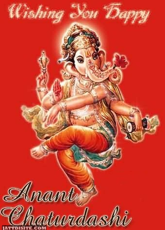 Wishing You Happy Anant Chaturdashi - Ganesh Graphic