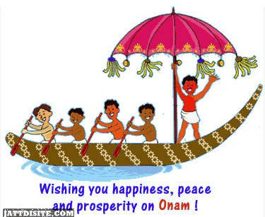 Wishing you happy onam with boating