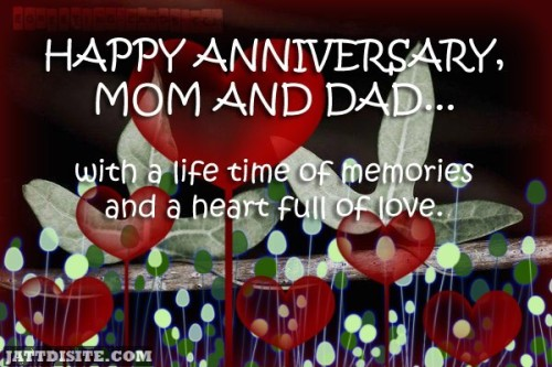 With A Life Time Of Memories And A Heart Full Of Love - Anniversary Quote