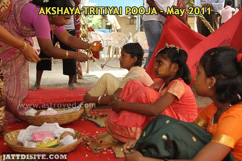 Worship Of Girl On Akshaya Tritiya