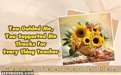 You Guided Me Supported Me Thanks Teacher