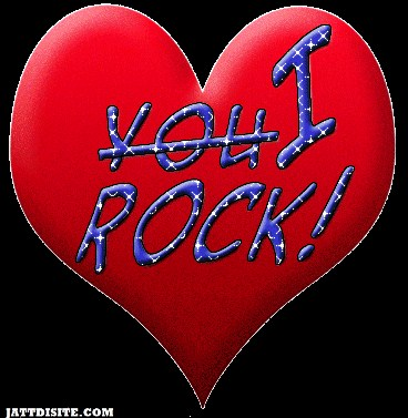 You I Rock On Heart Graphic