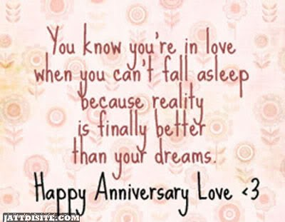 You Know You Are In Love ~ Anniversary Quote