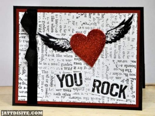 You Rock Angel Heart Graphic