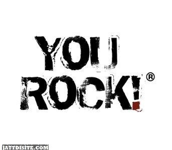 You Rock Black Graphic
