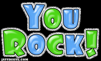 You Rock Blue And Green Glitter