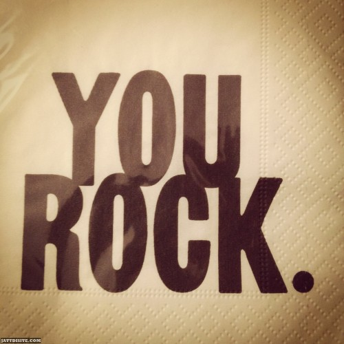 You Rock Brown Graphic