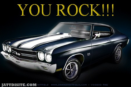 You Rock Car Graphic