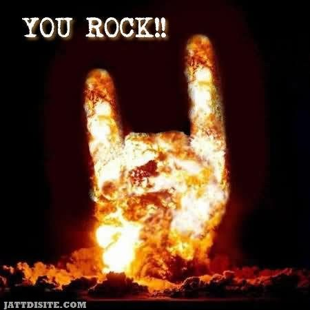 You Rock Fire Graphic