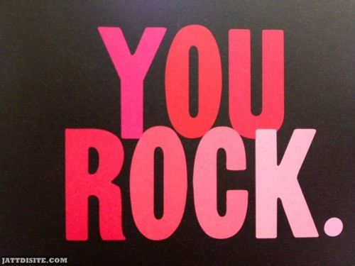 You Rock Greeting Card Graphic