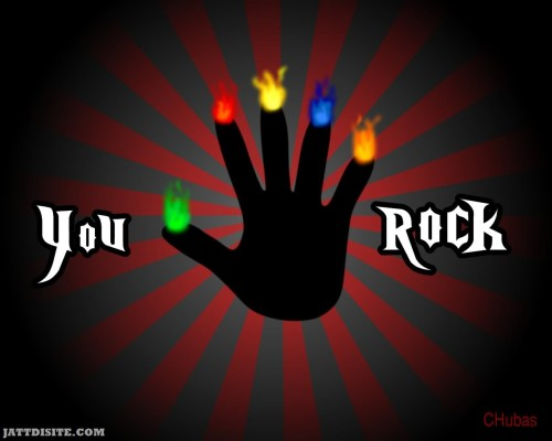 You Rock Hand Graphic