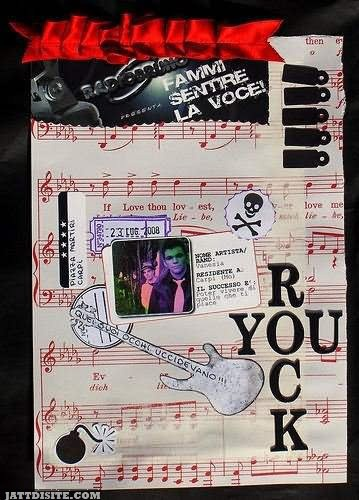 You Rock Musical Notes Graphic