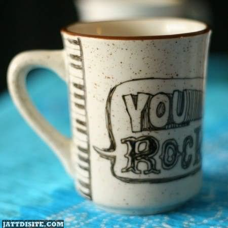 You Rock On Cup Graphic