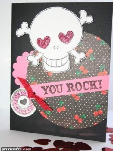 You Rock Skull Graphic