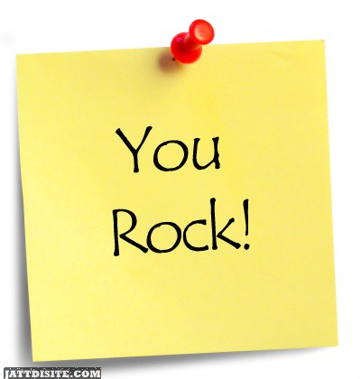 You Rock Sticky Note Graphic
