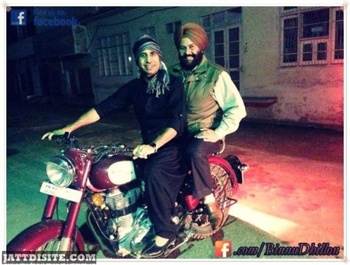 Binnu Dhillon Drive bullet in Night