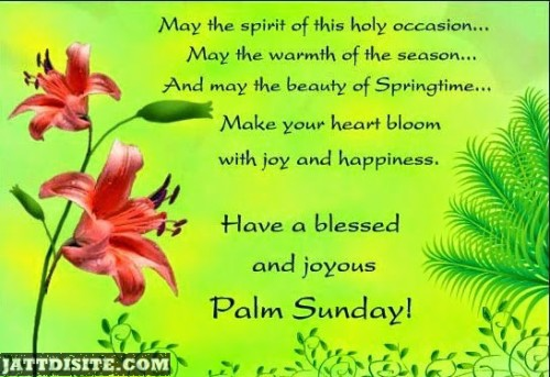Blessed Palm Sunday Quotes