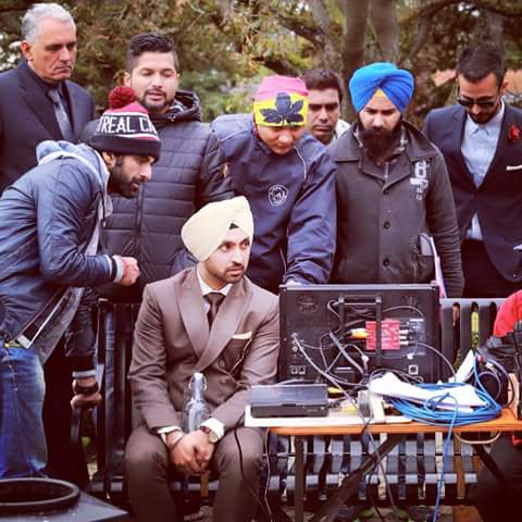 Diljit Dosanjh On The Set Of Sardar Ji