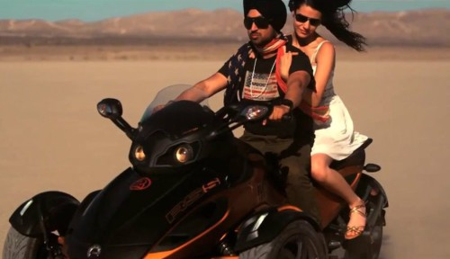Diljit Dosanjh With A Beautiful Girl On A Ride