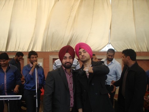 Diljit Dosanjh With A Handsome Man