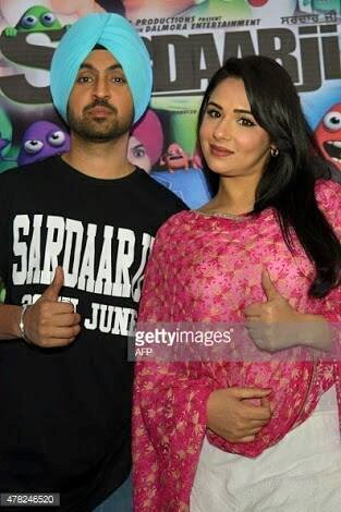 Diljit Dosanjh With Co-Actress