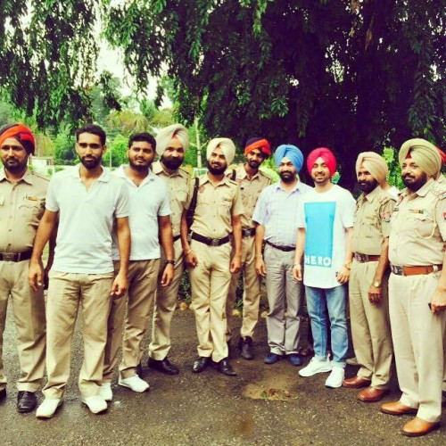 Diljit Dosanjh With Police Mens