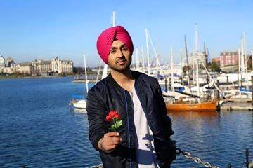 Diljit Dosanjh With Rose
