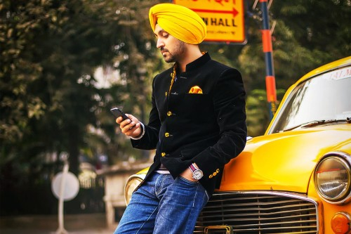 Diljit Dosanjh With Yellow Car