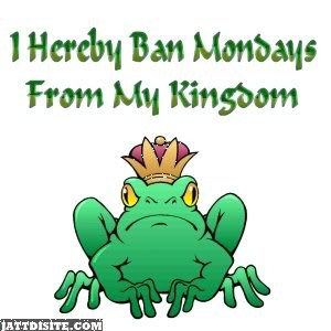 Funny King Frog With Monday