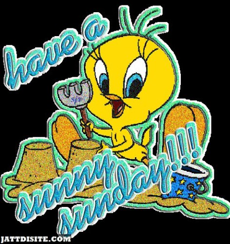 Have A Sunny Sunday With Tweety Glitter