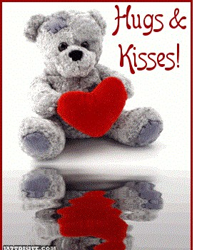 Hugs and Kisses Teddy bear Picture