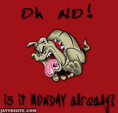 Oh No Is It Monday Already
