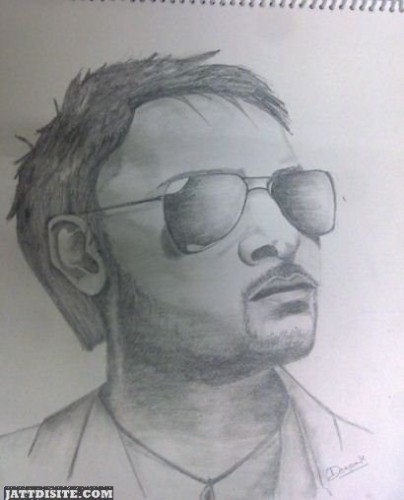 Pencil Draw  Picture Amrinder Gill