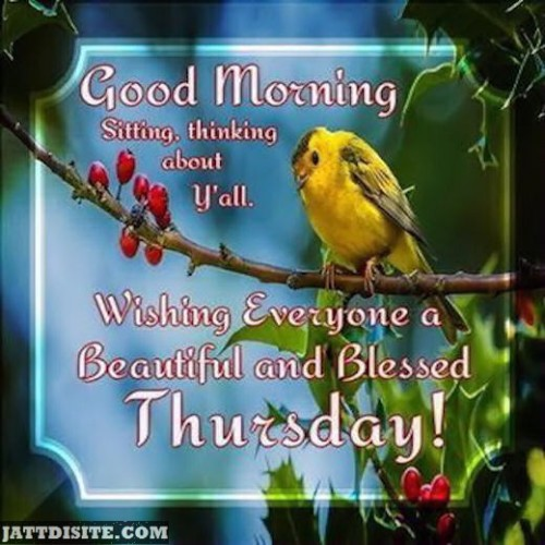 Wishing Everyone A Blessed Thursday
