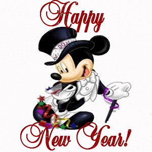 Happy New Year Mickey Mouse Greetings